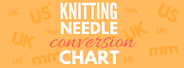 Knitting Needle Size Conversion Chart Dont Be Such A Square