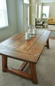 white rustic dining table. DIY Farmhouse Table Restoration Hardware Knockoff White Rustic Dining W