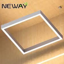 led pendant lighting fixtures. 400 500 1000MM White Square LED Direct Indirect Pendant Light Fixture Led Lighting Fixtures