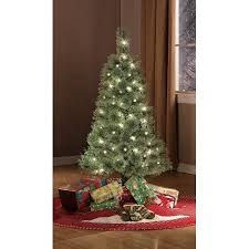 Holiday Time PreLit 4u0027 Cashmere Artificial Christmas Tree Clear 4 Christmas Trees