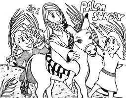 Small Picture Kid Drawing of Palm Sunday Coloring Page Color Luna