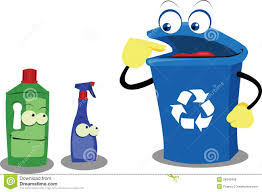 Recycling Plastic Bottles Funny Recycling Bin And Plastic Bottles Stock Photo Image 26945520