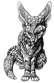 Fennec Fox By Bioworkz Zentangle Kleurplaten Tatoeage