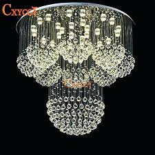 fake crystal chandelier faux chandeliers homemade flush