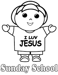 Small Picture Sunday School I Love Jesus Coloring Page H M Coloring Pages