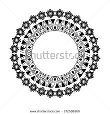 oval frame tattoo design. Circle Polynesian Tattoo Styled Frames. Vector Illustration. Oval Frame Design
