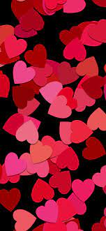 Red hearts, Girly backgrounds, 5K ...