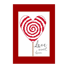 Greeting Card Size Chart Cross Stitch Pattern Greeting Card Little Heart