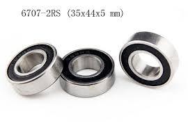 [<b>2 PCS</b>] 6707 2RS (35x44x5 mm) Metal <b>Rubber</b> Sealed Ball <b>Bearing</b> ...