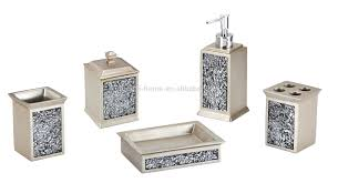 Resin Bathroom Accessories Silvery Stone Like Resin Bathroom Set Soap Dispenser Buy