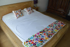 Organic Bedroom Furniture Mexican Bed Runner Organic Manta Bed Runner Mexican Bed Cover