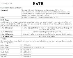 standard shower curtain sizes standard shower curtain size what is standard shower curtain size shower liner