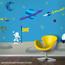 rocket wall decals outrageous space wall mural stencil kit wall decals