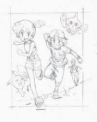 Special Pokémon Sun and Moon anime artwork by Yasuda featuring Ash, Misty &  Brock | Anime artwork, Pokemon, Pokemon fan art