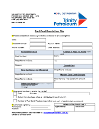 Fillable Online Fuel Card Requisition Slip Trinity