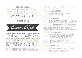 011 Template Ideas Wedding Weekend Itinerary Templates