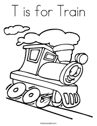 Small Picture T is for Train Coloring Page Twisty Noodle