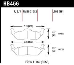 Hawk Pads Chart Hawk 04 11 Ford F 150 06 08 Lincoln Mark Lt Rear Lts