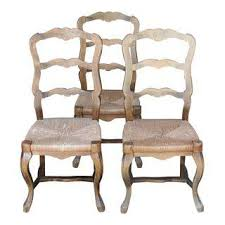Four Beautiful Vintage Ethan Allen French Country Style Comb Back Country Style Chairs