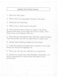 Light Cues In Script This Is The First Page Of The Assignment This Can Be Used
