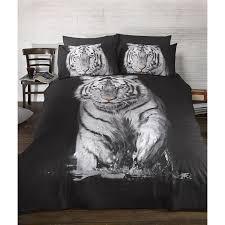 com urban unique white tiger printed duvet cover bedding set twin bed black white home kitchen