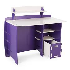 Legare Kids 43 in. Desk with Shelf and File Cart - Purple and White |  Hayneedle