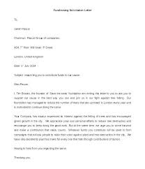 Solicitation Letter Template Donations Business Sample