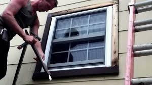picture installing exterior window trim