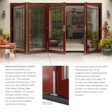 Jeld wen folding patio doors Foldable Product Overview Folding Patio Door Home Depot Jeldwen Classic Clear Glass 72 In 80 In Fiberglass Smooth