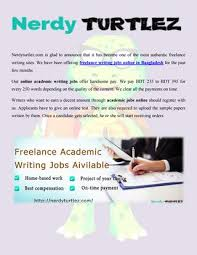 nerdy turtlez offers lance writing jobs online in  we have been offering lance writing jobs online in for the past few months