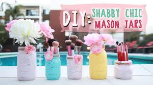 Mason Jar Decorations Diy Shabby Chic Mason Jars Ilikeweylie Youtube