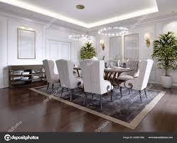 Großer Esstisch Für Personen Klassischen Stil Esszimmer