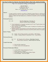 Resume How To Write For Teaching Job With Experience Teachers