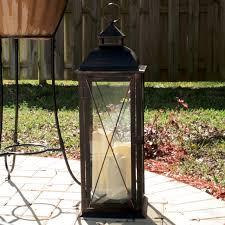smart design rno lantern with led candles hayneedle