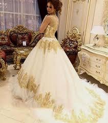 white and gold wedding dress naf dresses