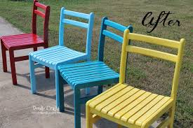 painted wooden patio furniture