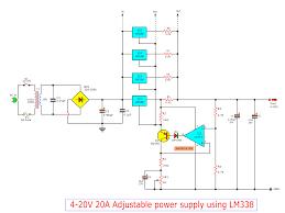 Shunt Regulator Circuit Design High Current Adjustable Voltage Regulator Circuit 0 30v 20a