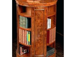 bookcase revolving bookcase end table inspirational tall elm round bookcases by revol