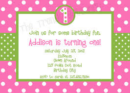 Polka Dot Invitations Pink Polka Dot Birthday Party Invitations