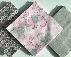 Rag quilt kits | Etsy & 36 - 6.5 Inch Cotton Flannel Precut Fabric Squares - Pink/Gray Elephants, 3 Adamdwight.com