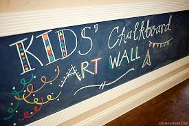 chalk art wall