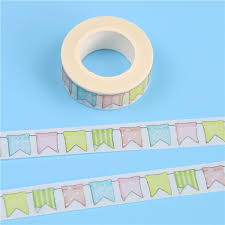 2019 <b>1 Pc Pack 15mm*10m Size</b> Flags Pattern Masking Paper Tape ...