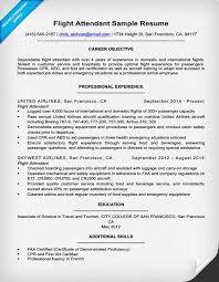 Flight Attendant Resume Templates Extraordinary Flight Attendant Job Description Resume Kubreeuforicco
