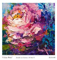 nora kasten artist acrylic painting i like pink