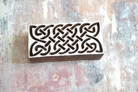 Dřevěná Razítka Top Obdélník Keltský Uzel Ii Zboží Prodejce
