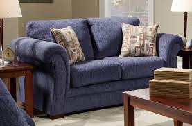 Living Room Sofa And Loveseat Sets Blue Fabric Casual Modern Living Room Sofa Loveseat Set