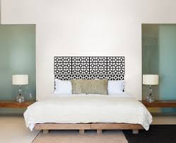 diy headboard idea with wall decals