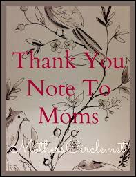 thank you note to mums thanks to mum writing a thank you note to dear mom