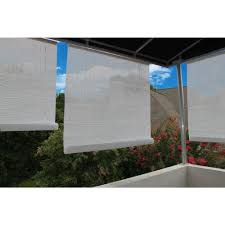 l white exterior roll up patio sun shade