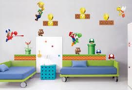 Super Mario Bros Bedroom Decor Kids Room Wall Design Decor For Kids Room Wall Decorating Ideas
